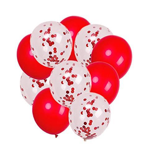 llons, leuchten 24 Stunden Helligkeit Schöne Luftballons blinken Party Dekoration, Hochzeit, Geburtstag, Weihnachten, Festival, Jubiläum (10 Stück) ()