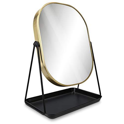 Navaris Espejo de Maquillaje para Mesa - Espejo para tocador baño Dormitorio...