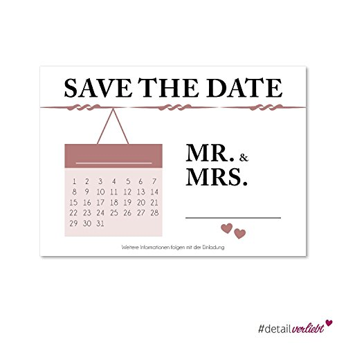 15 Postkarten Save the Date I dv_154 I DIN A6 I Set Hochzeit Wedding Einladungs-Karten Countdown