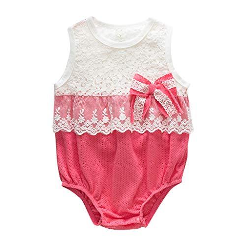 squarex Neugeborenen Baby Mädchen Body Spitze Overall Bowknot Romper Ärmellose Spielanzug Kinder Kletteranzug Outfits Sommer (Junioren Weißen Socken)