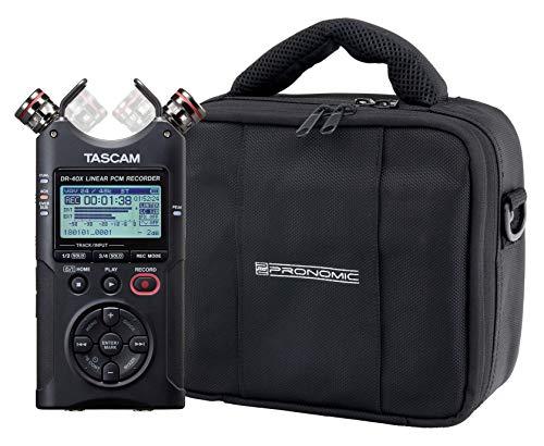 Tascam DR-40X Vierspur Digitalrecorder Set mit Tasche -