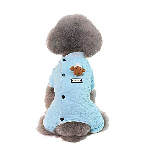 SOMESUN Haustier Hunde Baumwolljacke Mini Hündchen Welpe Winter Warme Süß Tier Anhänger Hundemantel Baumwolle Winterjacke Elastisch Hundejacke Shirt - Bordeaux-mini-anhänger