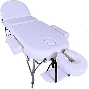 Massage Imperial® - tragbare Massageliege Consort - Aluminium 15Kg - 7 cm Schaumstoff Mit Hoher Dichte - Creme