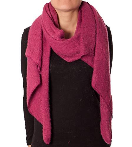 Eitex Damen offener kuscheliger Schal XXL Schal sanftes Material Viskose und Wolle Gemisch warm Stola (brombeer)