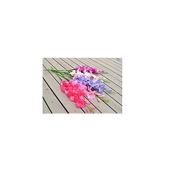 PETSOLA 2 Piezas De Flores De Seda De Tallo De Gladiolo Artificial En Guirnalda De Cadena Natural para La Ceremonia De…