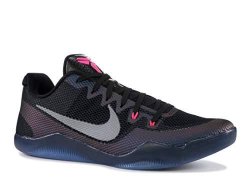 12656c6c52fc9 NIKE Men's Kobe XI Basketball Shoe (10, Black/Wolf Grey - Pink Blast