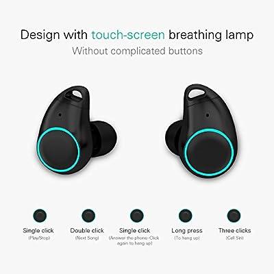 HolyHigh Bluetooth Kopfh?rer Bluetooth Headset V5.0 Stereo-Minikopfh?rer Sport IPX6 Wasserdicht Kopfh?rer in Ear mit Ladek?stchen und Integriertem Mikrofon f¨¹r iPhone Android Samsung iPad Huawei HTC