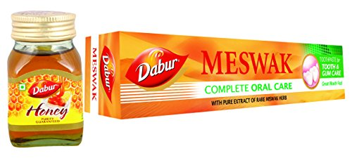 Dabur Meswak Toothpaste - 200 g with Free Honey - 20 g  available at amazon for Rs.87