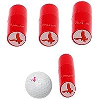 IPOTCH 3 pcs Pelota de Golf Ligera Stamper Golf Impresión Águila Forma