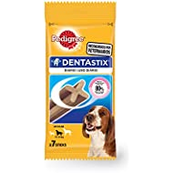 Pedigree DentaStix Daily Oral Care for Medium Dog of 10-25 kg, 180 g, Pack of 10 (Total 10 x 7 Sticks)