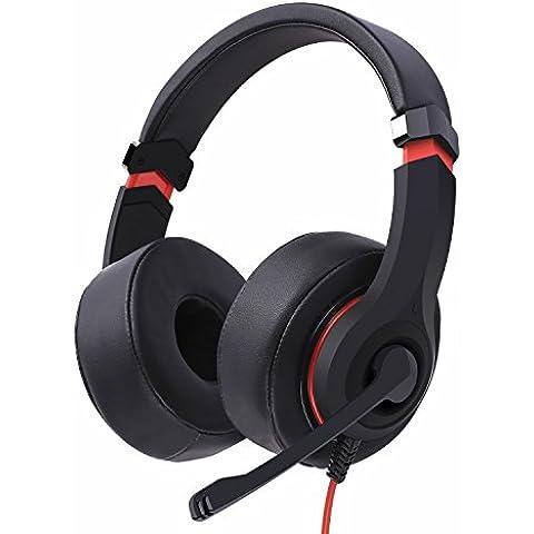 NUBWO N6 PC Auriculares Estéreo para Juegos con Cancelación del Ruido, Micrófono de Alta Sensibilidad y Control de Volumen, Almohadillas Suaves para el Oído - Negro