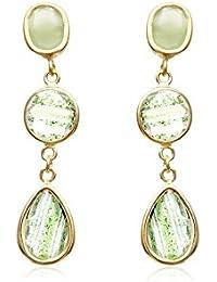 Córdoba Jewels | Pendientes en plata de Ley 925. Diseño Filas Luxury Esmeralda