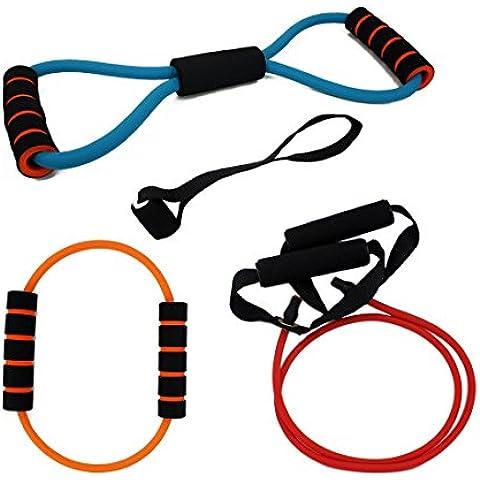 Andux Zone pilates Fitness-Tubo Conjunto elástico para entrenamiento TLD-07