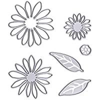 Moldes de chocolate 6 piezas de acero al carbono de flor y hojas de plantillas de