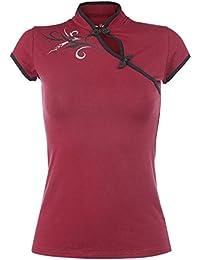 Tribal Fantasy T-shirt Femme rouge