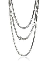 Collier - Esprit ES L11832A750 Collier - Femme - Acier inoxydable rhodié - Verre, Cristal Bicoloured 75cm - Blanc