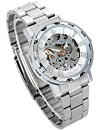 ORKINA YI-WAC14-03-266 - Reloj para hombres, correa de acero inoxidable color plateado