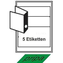 700 Ordnerrücken Etiketten 192 x 38 mm auf DIN A4 Bögen Akten 1x7 Etiketten