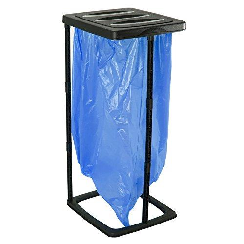 *Oxid7® Müllsackständer aus PVC 60 Liter, auch für Gelbe Säcke geeignet Kunststoff leicht zusammensteckbar, Müllsäcke*