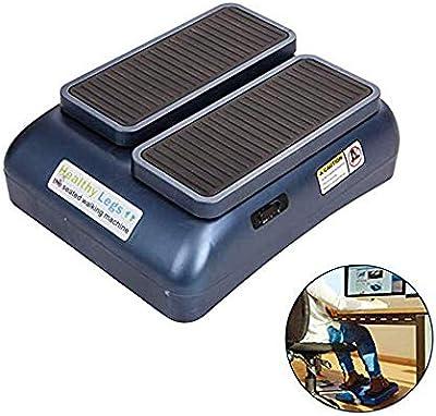 LKJCZ El ejercitador de piernas Sentado, la máquina portátil para Caminar Duradera, Mejora la circulación sanguínea, el Paso a Paso eléctrico, se Adapta a relajar los músculos,Azul