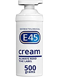 E45 Dermatological Moisturising Cream Tub, 500 g