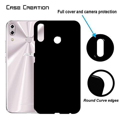 "Case Creation ZenFone 5 (2018) Back Cover,Hard Back Case Cover For Asus Zenfone 5 ZE620KL/ZenFone 5 (2018)/Asus Zenfone 5 6.2"" Inch 2018- Pitch Black"