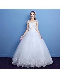 Vestido de Novia, Hombro V Cuello Delgado Princesa Novia Gran tamaño Delgado Joyería de Encaje