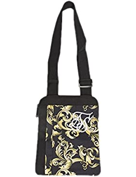 Bolso Siksilk – Cross Body Flight negro/dorado