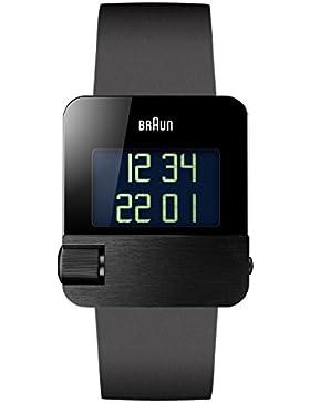 Braun Herren-Armbanduhr Digital Quarz Kautschuk - BN0106BKBKG