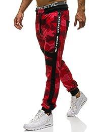 BOLF Pantaloni – di Tuta – Sportivi – Motivo Mimetico – Tasche – con  Cuciture - de6864621512
