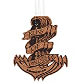 Bliss Of Wellness Cork Sandalwood Anchor Fragrance Hanger (Pack of 3, Brown)