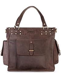 LEABAGS Richmond sac à main rétro-vintage en véritable cuir de buffle
