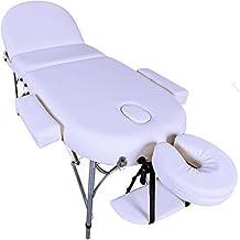 Massage Imperial® Consort Lettino Professionale per massaggio, Portatile, in Alluminio, Schiuma ad Alta Densità 7 cm, Colore: Bianco Avorio