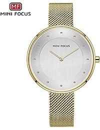 Fashion Watches Mini Focus/Reloj de Diamantes señoras Reloj de Cuarzo Reloj de Correa de