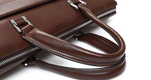 Handtaschen-Schulter-Beutel-Beleg-Schultaschen-Geschäfts-Satz Der Männer Art Und Weise Männer Brown