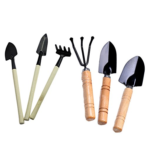 uniquq 6PCS/set Garten Werkzeug Set Schaufel Kultivator Maurerkelle Leaf Trimmer Rechen Miniatur Fairy Garden Bepflanzen transplanters Hand Tool Kit (Miniatur-schaufel)