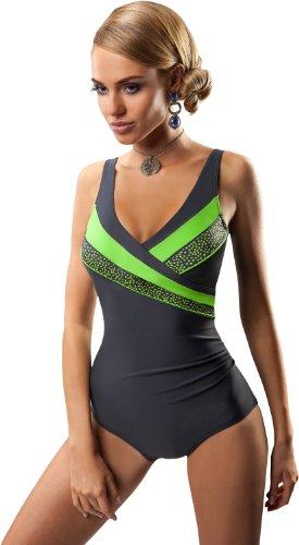 aQuarilla Costume da Bagno Intero per Donna MILANO Grafite/Verde