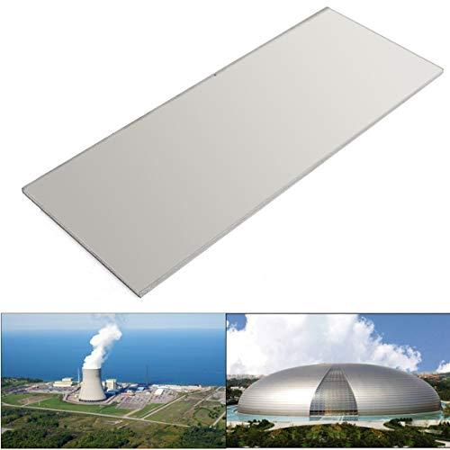 Titan-Metallplatte, 4 mm dick, 6-4 V, Platte, Grade 2, Titan, Metall, Silbermetall, 100 x 260 mm