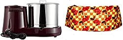Butterfly Rhino 2-Litre Table Top Wet Grinder (Cherry) + Free Rhisas Grinder cover
