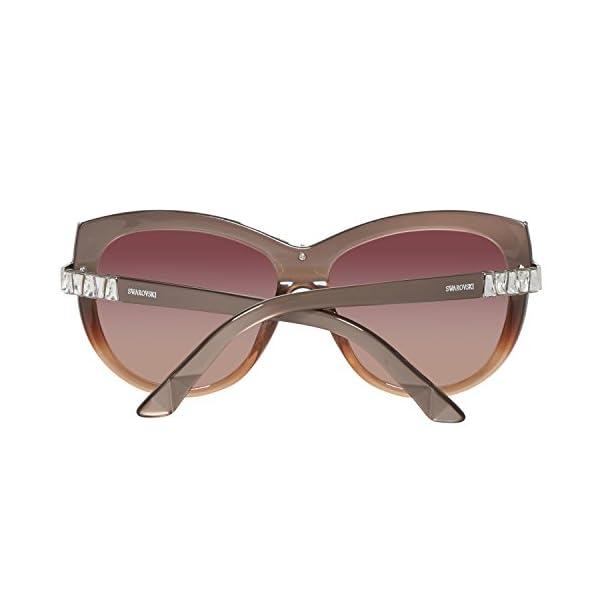 Swarovski SK0091F-5838F Gafas de sol, Bordeaux, 58 para Mujer