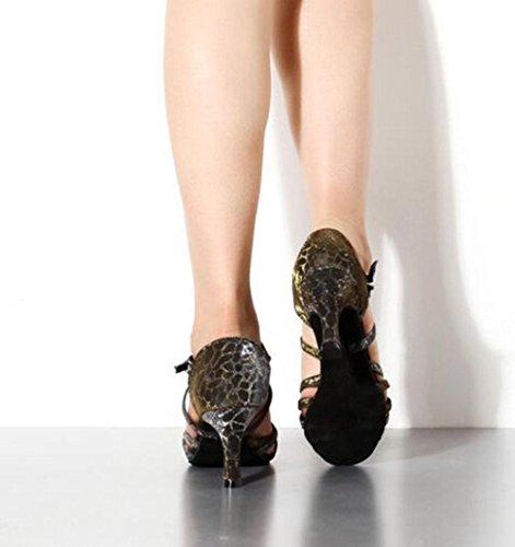 KUKI Scarpe da ballo latino con tacco alto da donna adulta scarpe da ballo femminile scarpe da ballo 2
