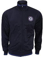 Chelsea FC - Sudadera oficial del Chelsea FC con escudo en el pecho - Premier League/Fútbol