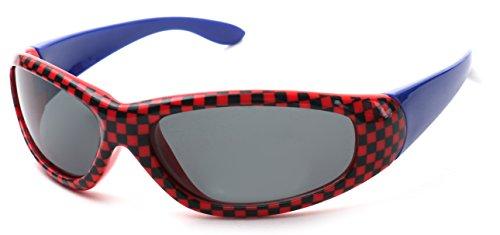 Kiddus Sonnenbrillen Jungen Alter von 6 bis 12 Jahren Komfortabel und Sicher 100% UV-Schutz Ideales Geschenk für Kinder