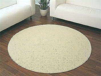 Teppich rund beige  Natur Teppich Wolle Berber Weiss Rund in 7 Größen: Amazon.de ...