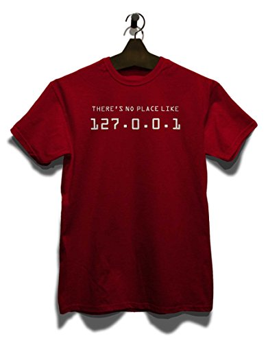 There Is No Place Like 127001 T-Shirt Bordeaux