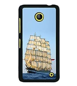 ifasho Designer Phone Back Case Cover Microsoft Lumia 630 ( I Love Kolkata Blue Wood Look )