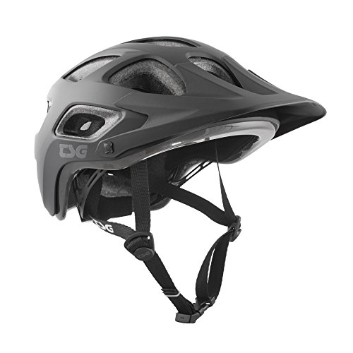 TSG Erwachsene Seek Solid Color Helm, Satin Black, L/XL