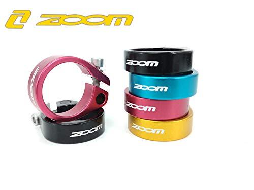 Zoom 31.8 - Abrazaderas para tija de sillín de Bicicleta de Carretera (34,9 mm), tamaño Black 35mm