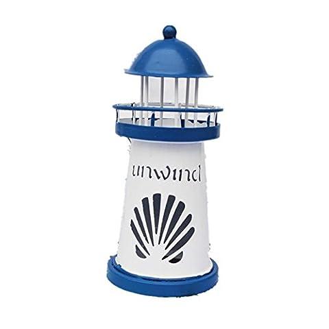 xiuxiandianju Eastern Mediterranean Style Starfish Tin Lighthouse LED Trumpet Electric