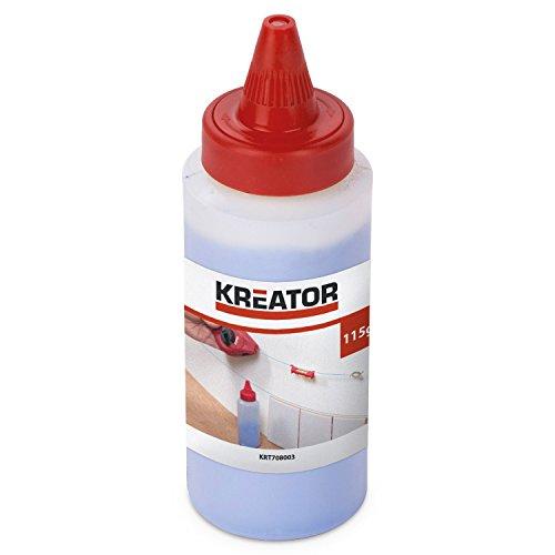 Kreator KRT708003 Kreidepulver Kalkpulver 115 g blau Pulver für Schlagschnurgerät - Markierung